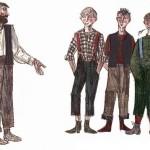 Сказки братьев Гримм. Четверо искусных братьев