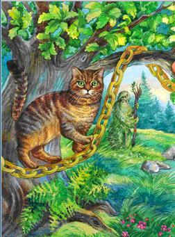 Пушкин кот ходит по цепи кругом