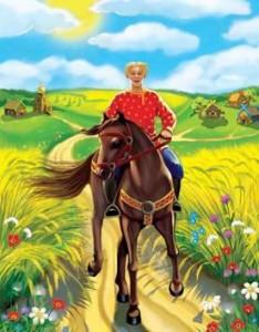 Русские народные сказки. А. Н. Афанасьев. Иван крестьянский сын и мужичок сам с пёрст, усы на семь вёрст