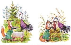 Русские народные сказки. А. Н. Афанасьев. Лиса и журавль