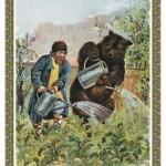 Русские народные сказки. А. Н. Афанасьев. Мужик, медведь и лиса