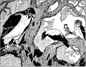 Русские народные сказки. А. Н. Афанасьев. Орёл и ворона