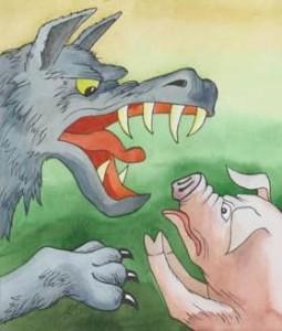 Русские народные сказки. А. Н. Афанасьев. Свинья и волк