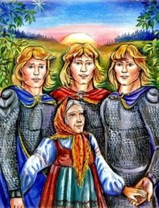 Русские народные сказки. А. Н. Афанасьев. Зорька, Вечорка и Полуночка