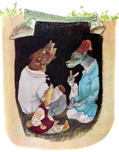 Русские народные сказки. А. Н. Афанасьев. Звери в яме