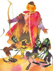 Русские народные сказки. А. Н. Афанасьев. Иван купеческий сын отчитывает царевну