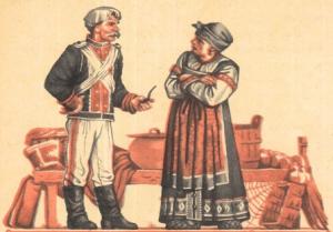 Русские народные сказки. А. Н. Афанасьев. Солдатская загадка