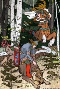 Русские народные сказки. А. Н. Афанасьев. Сказка об Иване-царевиче, жар-птице и о сером волке