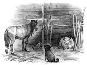 Сказки Константина Дмитриевича Ушинского. Спор животных